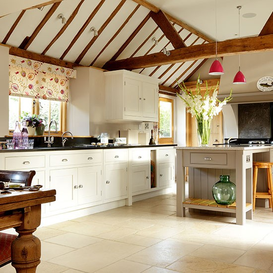 Cream country-style kitchen