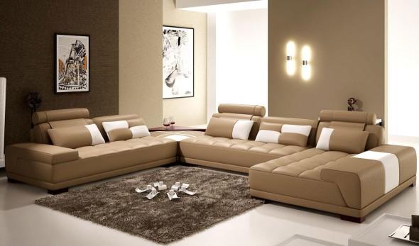 اضاءة بغرف معيشة بسيطة
