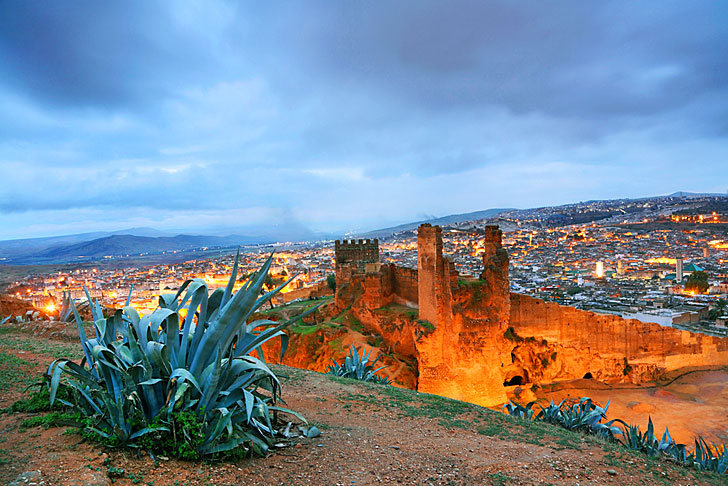 Fes Morocco  city pictures gallery : Fes seen from the El Bali | المرسال