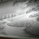 لوحات فنية  غريبة ببصمات الأصابع