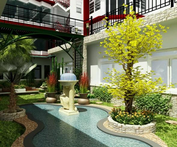 ديكور حدائق منزلية صغيرة