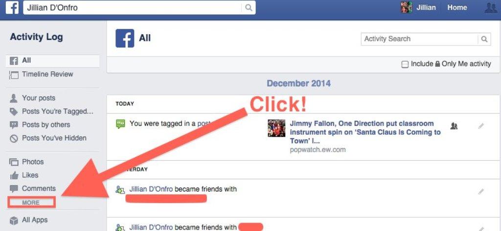 ثم ستظهر صفحة خاصة بكافة انشط البحث التي قام بها المستخدم نقوم بالضغط على  مسح البحث (Clear Searches) وبهذا يتم مسح كافة بيانات البحث التي قام بها  المستخدم .