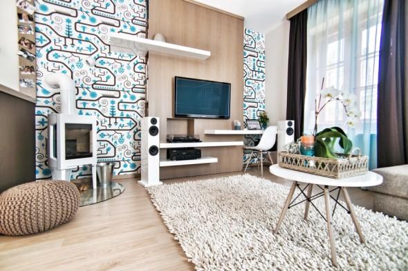 تصميم جديد ورق جدران بالمنزل
