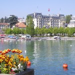 Ouchy is harbor of Lausanne, which links its activity to the largest freshwater lake in Europe - 220829