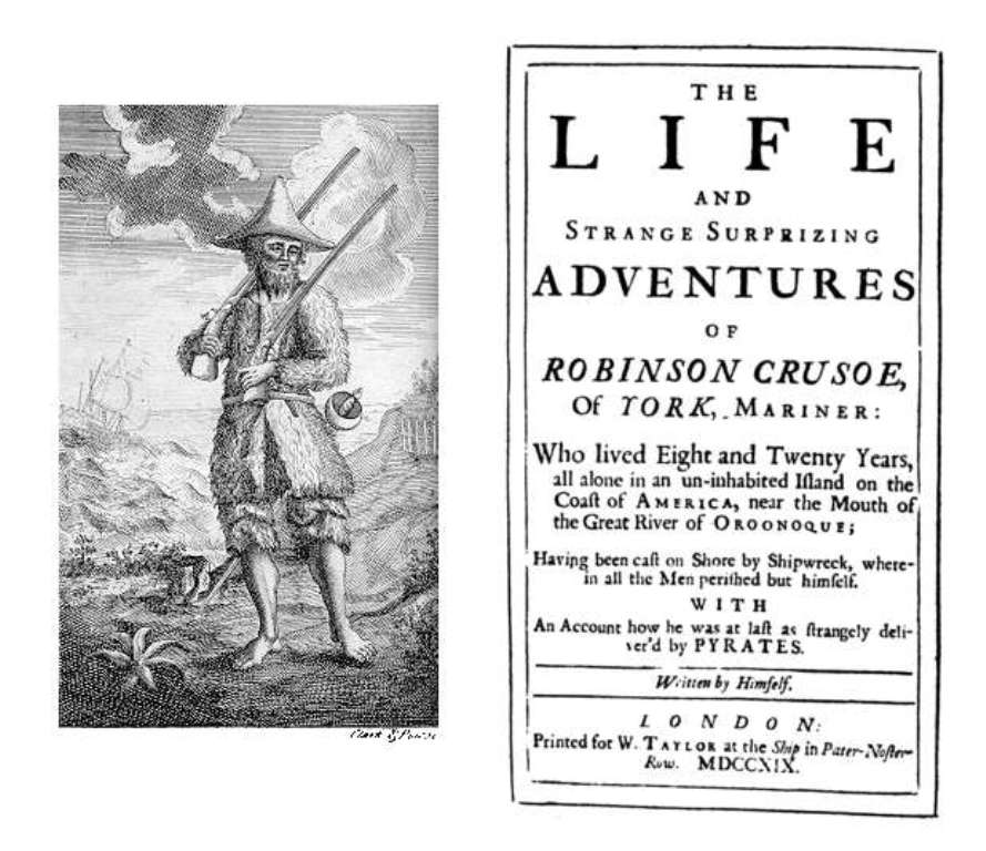 رواية روبنسون كروزو Robinson Crusoe 1719
