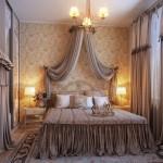 ستائر ومفارش ناعمه غرفة نوم رومانسية جدا - 213817