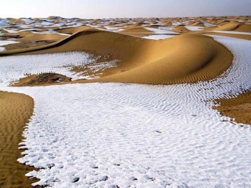 ثلوج صحراء ناميبيا