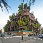 منزل يستخدم الأشجار لحماية السكان من الضوضاء