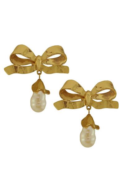 اكسسوارات ذهبية مرصعة بالأحجار الكريمة Yves-Saint-Laurent-R
