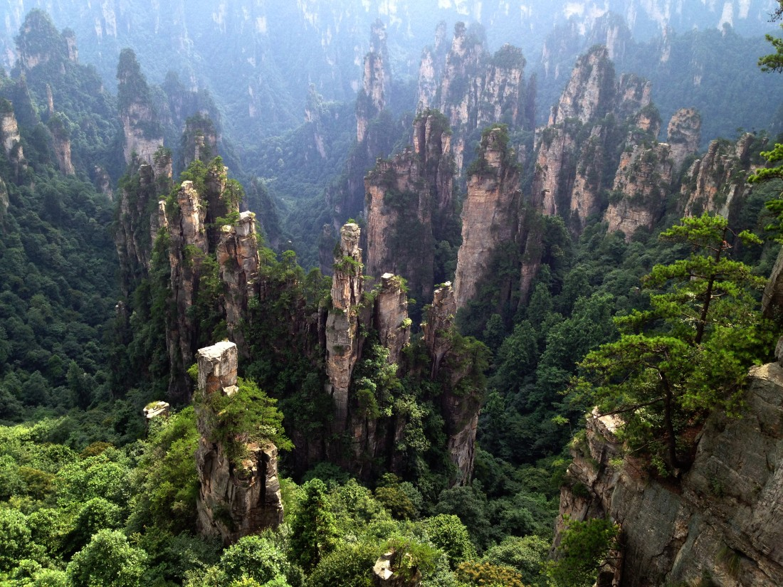 Zhangjiajie National Park in Hunan, China