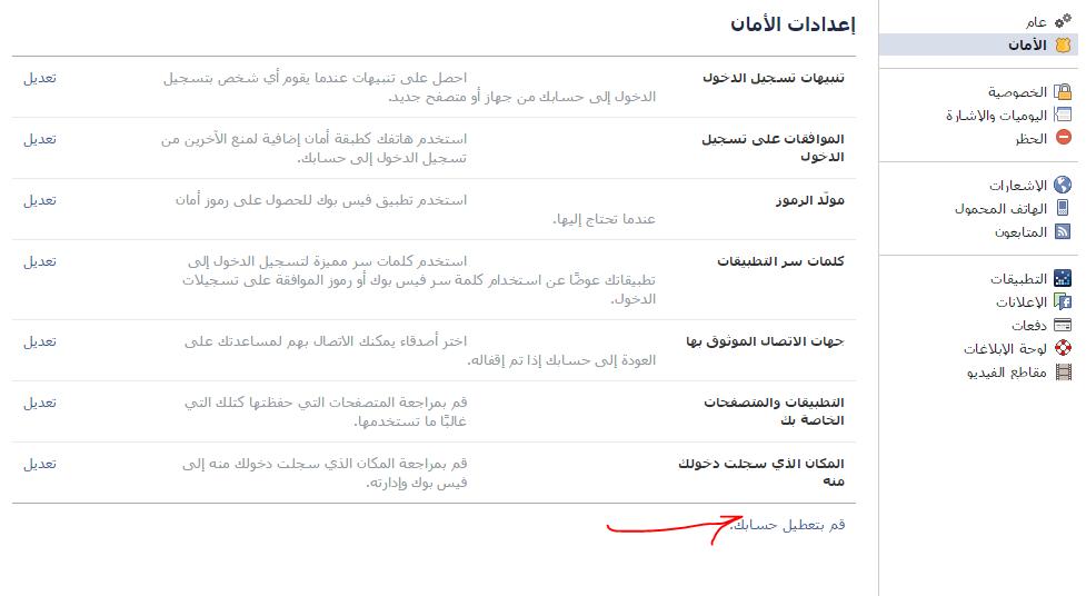 الطريقة الثانية : حظر المستخدم عن طريق اعدادات الحظر المتوفرة في لوحة  التحكم الخاصة بحسابنا :