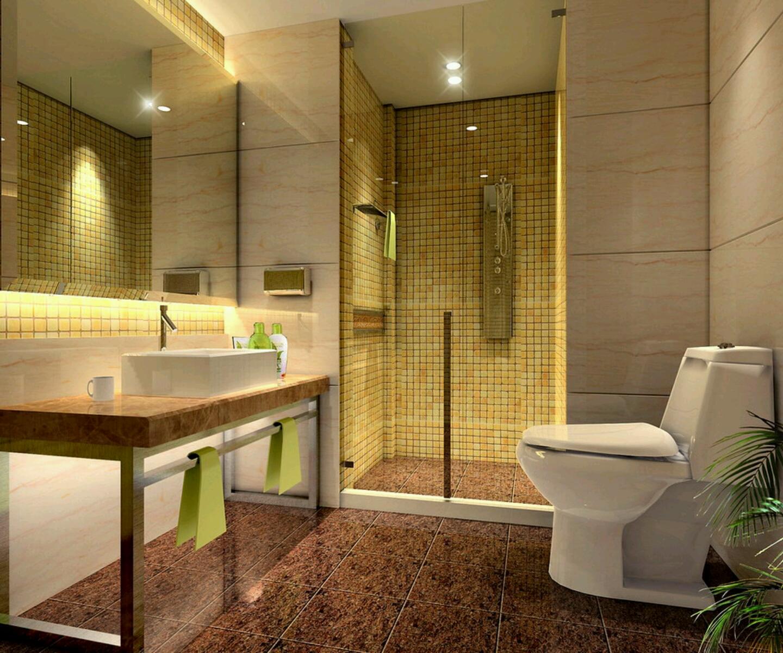 New Home Designs Latest Modern Homes Modern Bathrooms: افكار حمامات بتصميم معاصر