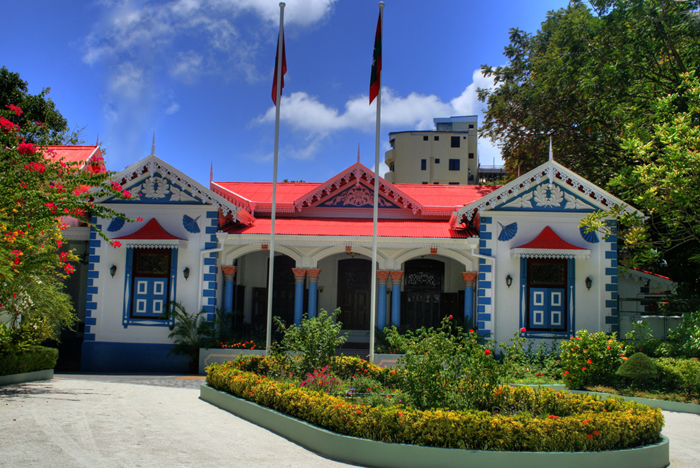 the Presidential Palace of Malé