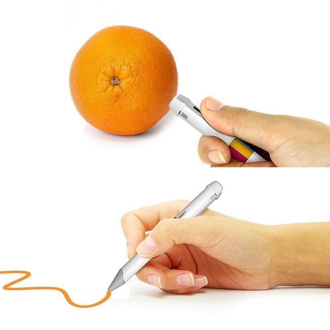 قلم بإمكانة إمتصاص اللون من أي كائن حي