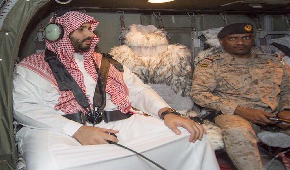 العميد عسيري ووزير الدفاع الامير محمد بن سلمان