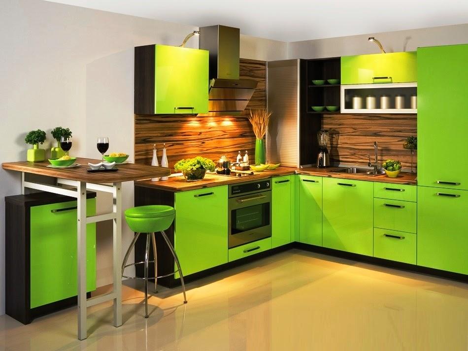 for Modern green kitchen designs