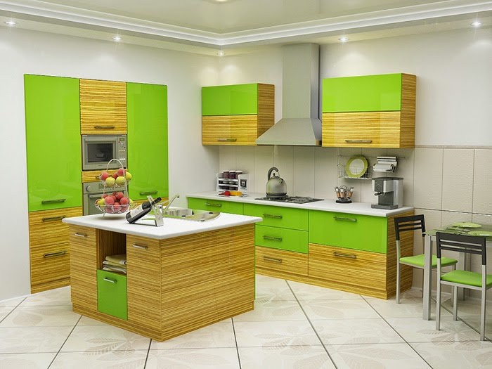 for Green and yellow kitchen designs