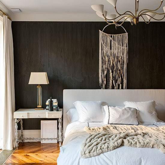 افكار غرف نوم مميزة بالابيض والاسود