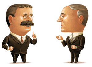 roosevelt vs wilson Onder de vs-gezant franklin roosevelt,  in eerste instantie slaagde wilson erin de verenigde staten buiten de wereldoorlog te houden,.