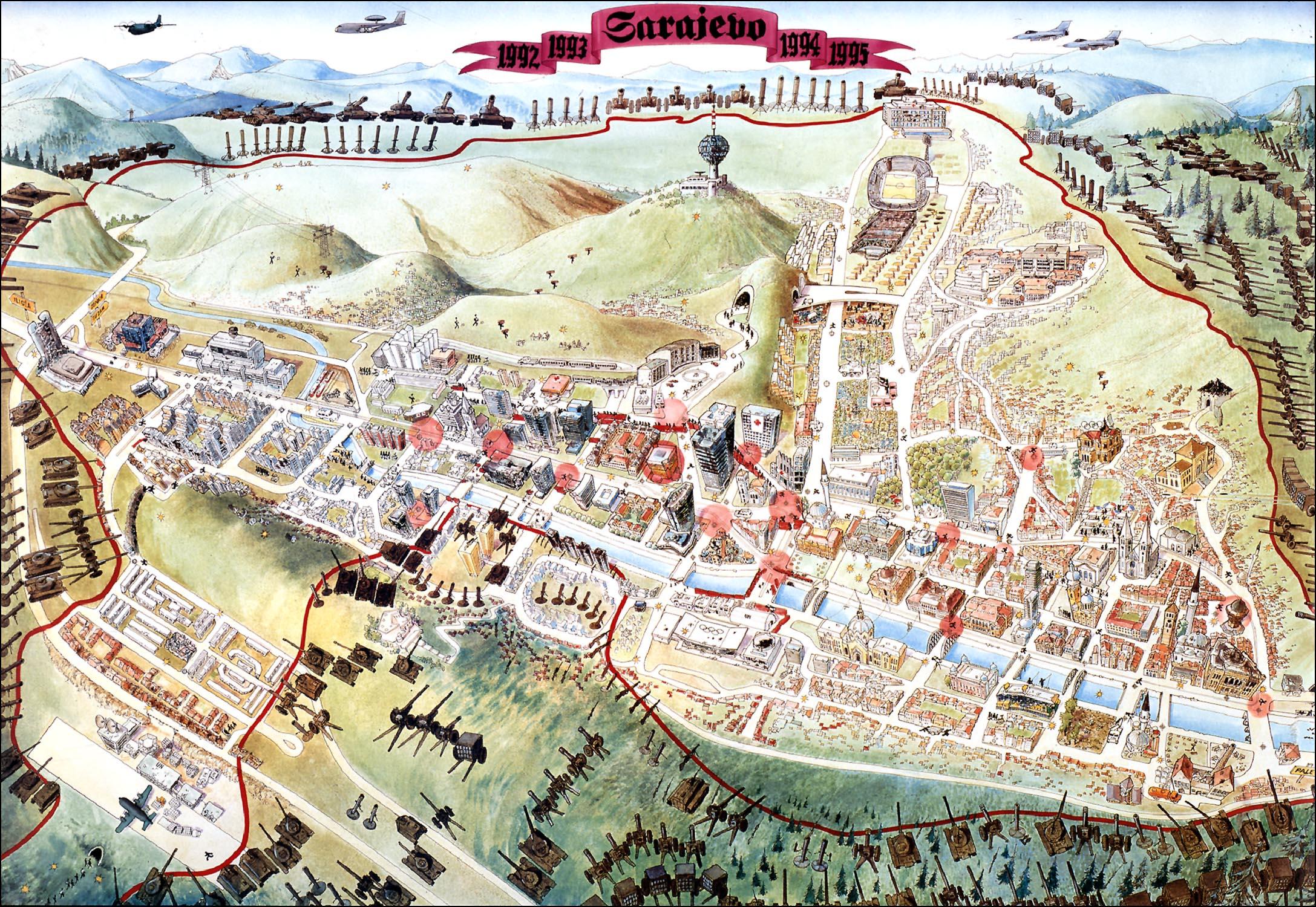 كل ما تريد أن تعرفه عن قصة حصان طروادة Sarajevo-Survival-Map-1992-96