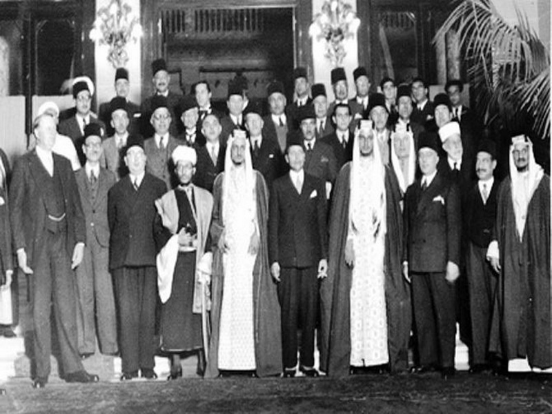 Sheikh Fawzan within Co in Alexandria meeting that led to the establishment of the Arab League delegation