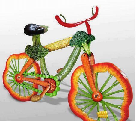 Vegetable Cycle Food Art
