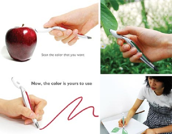 color selecting pen scanner
