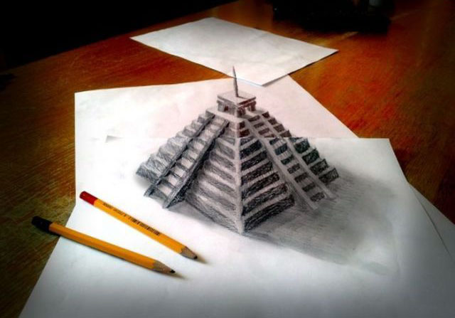 Amazing 3d pencil drawings