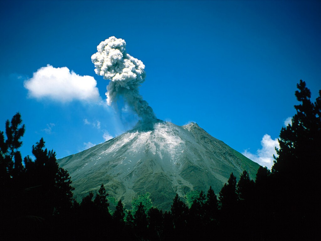 Arenal's volcanic activity appears to be decreasing
