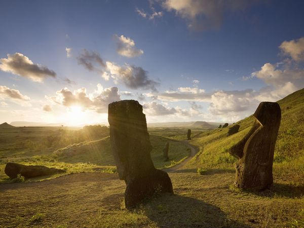 Easter Island sunrise in Pacific Islands