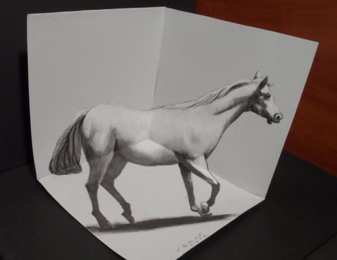 Horse pencil drawings
