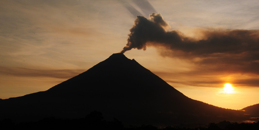 Arenal is one of seven historically active Costa Rican volcanoes