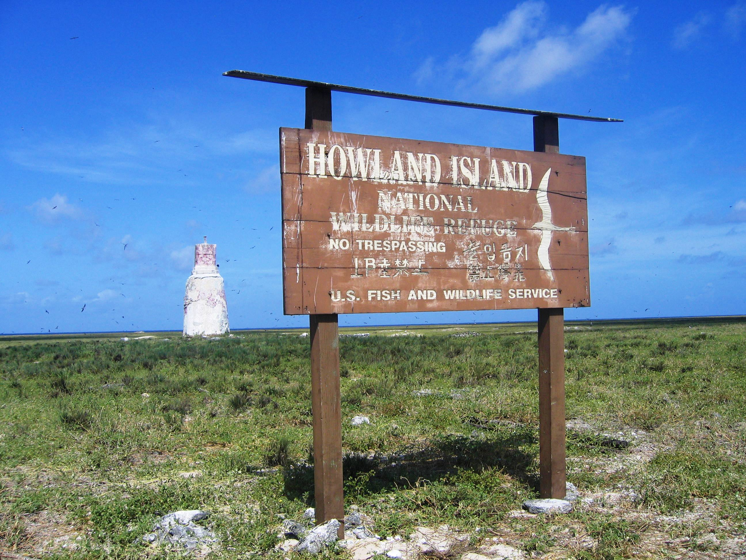 Sign of the Howland island