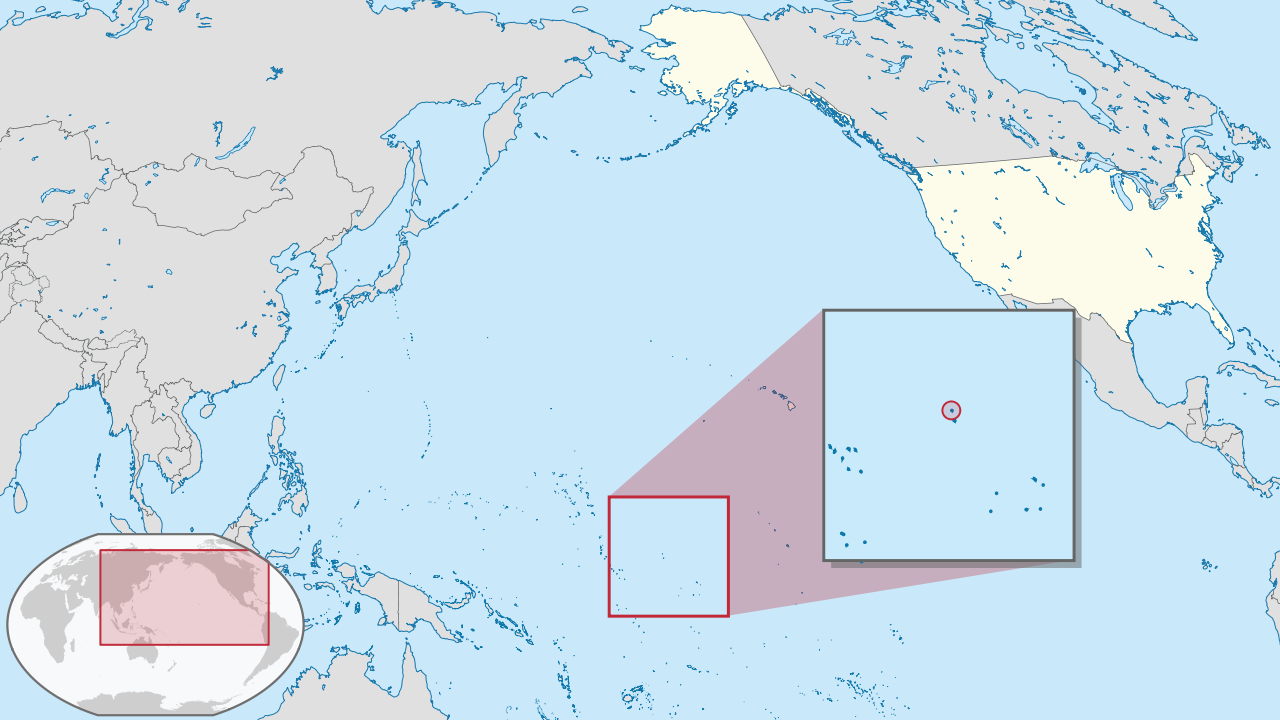 Location of Howland Island in United states