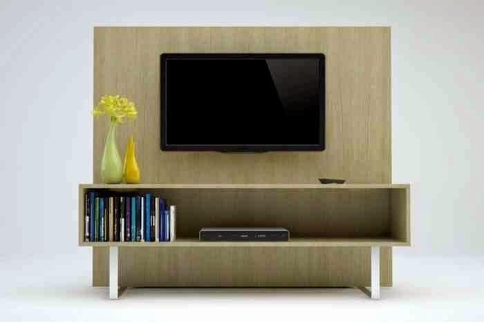 مزج مميز لطاولات التلفزيون مع الحائط
