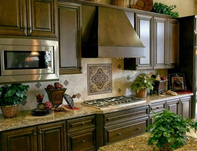 moroccan kitchen design l shape kitchen decoration using dark brown blue patterned