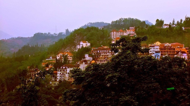 One corner of the town of Sapa