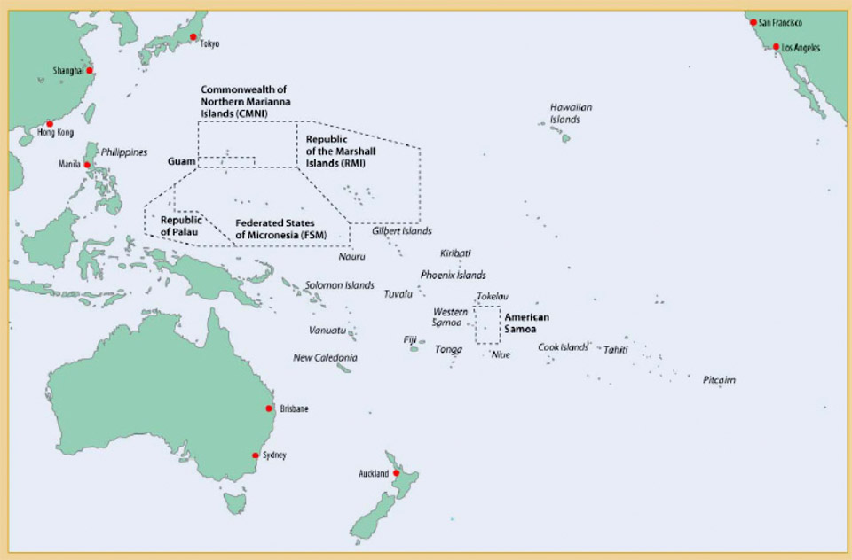 Pacific Islands Area Maps