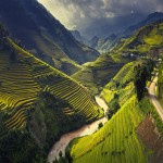 Rice terraces in Mu Cang Chai, North Vietnam - 240722