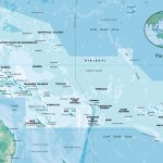 The Pacific islands region map - 233772