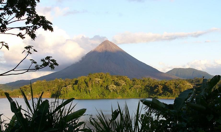 viewed from the Arenal Lake side