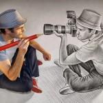 صور فن الرسم بقلم الرصاص بالصور