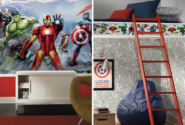 cartoon wallpaper for bedroom