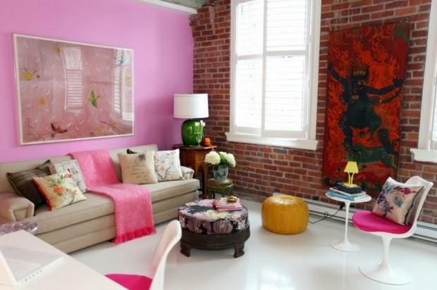 مجموعة من أروع تصاميم غرف الجلوس الملونة بألوان جذابة ومميزة
