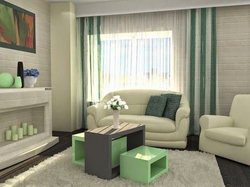curtain living room design