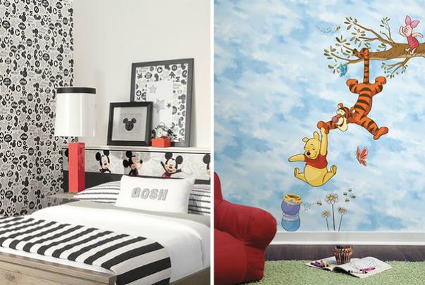 اجمل تصاميم ورق جدران لغرف الاطفال | المرسال
