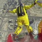 شاهد قفزة برج خليفة القياسية