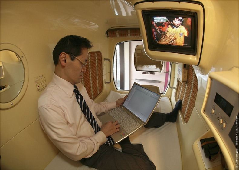 Capsule Hotels is a type of hotel developed in Japan