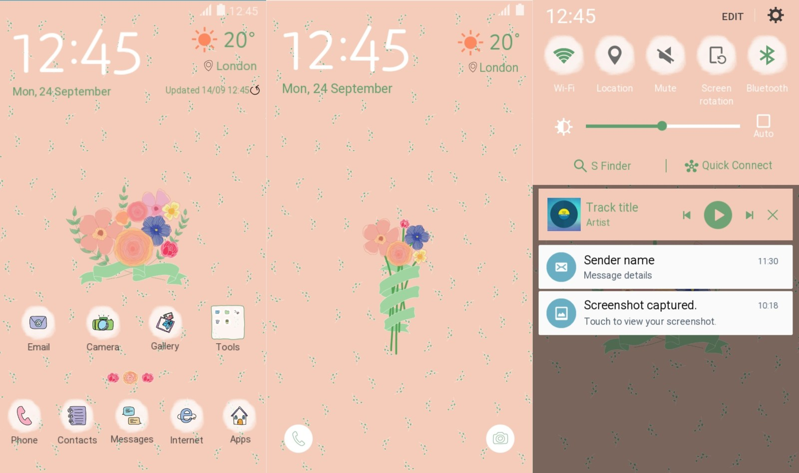 Girls Theme for Samsung Galaxy S6