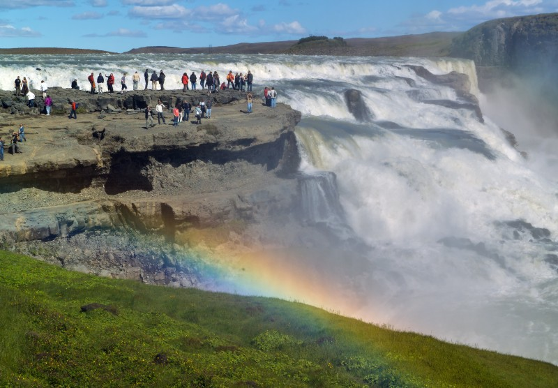 Gullfoss features in the music video